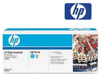 HP CE741A Genuine Cyan Toner Cartridge