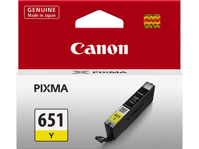 Canon CLI-651Y Genuine Yellow Ink Cartridge