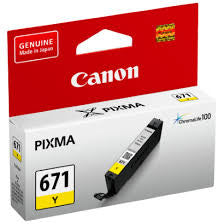 Canon CL671Y Genuine Yellow Ink Cartridge