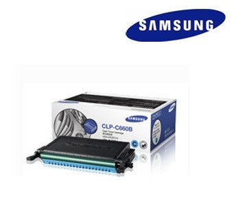 Samsung  CLP-C660B  genuine cyan  laser cartridge - 5500 page yield