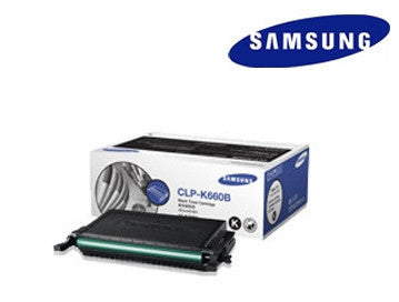 Samsung  CLP-K660B genuine black laser cartridge - 5500 page yield