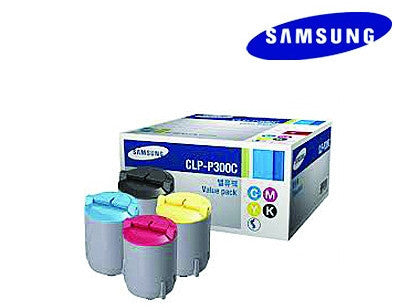 Samsung CLP-P300C Genuine Toner Set B,C,M,Y Bundle