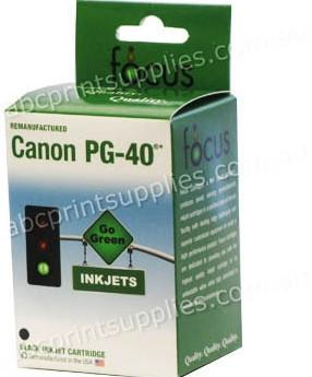 Canon PG40 Black Ink Cartridge Remanufactured