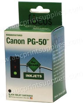 Canon PG50 Black Ink Cartridge Remanufactured (Recycled)