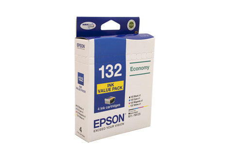 Epson 132 Ink Value Pack - B,C,M & Y ink x 1 each