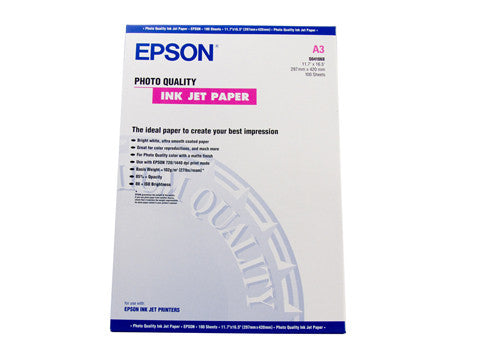 Epson Photo Quality Paper A3 100 Sheets 102gsm