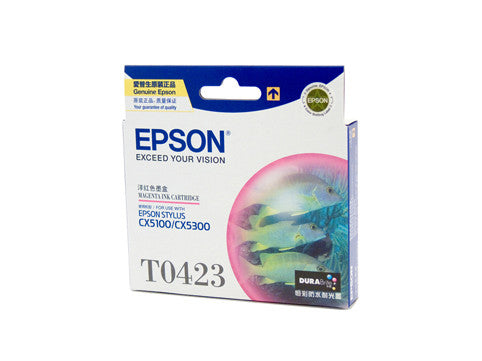 Epson T0423 Genuine Magenta Ink Cartridge - 420 pages