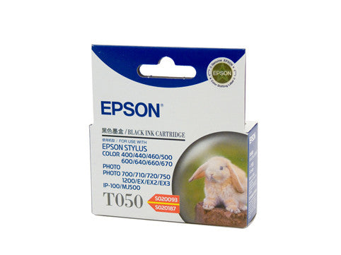 Epson T050 Black Ink Cartridge (Replaces SO20093 / SO20187) - 540 pages @ 3.5%