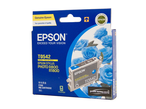 Epson T0542 Genuine Cyan Ink Cartridge - 440 pages