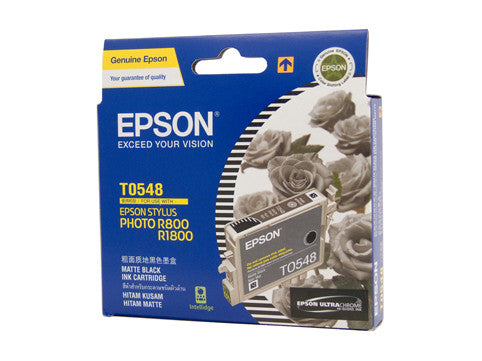 Epson T0548 Genuine Matte Black Ink Cartridge - 550 pages