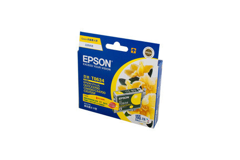 Epson T0634 Genuine Yellow Ink Cartridge - 380 pages