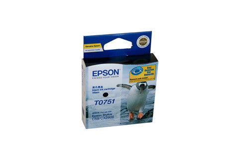 Epson T0751 Genuine Black Ink Cartridge - 170 pages