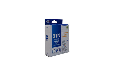 Epson 81N HY Ink Value Pack (contains B,C,M,Y,LC,LM)