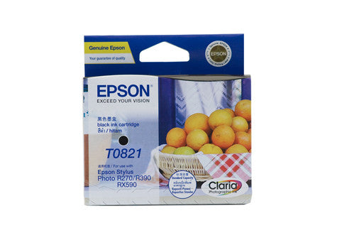 Epson T1121 (82N) Black Ink Cartridge (replaces T0821) - 330 pages