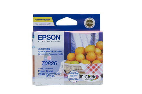 Epson T1126 (82N) Light Magenta Ink Cartridge (replaces T0826) - 510 pages