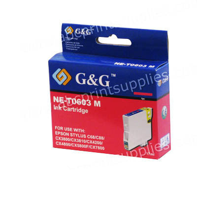Epson T0603 Magenta Ink Cartridge Compatible