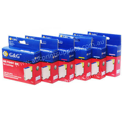 HP 02 REM Ink Cartridge Bundle (6) Remanufactured (Recycled)