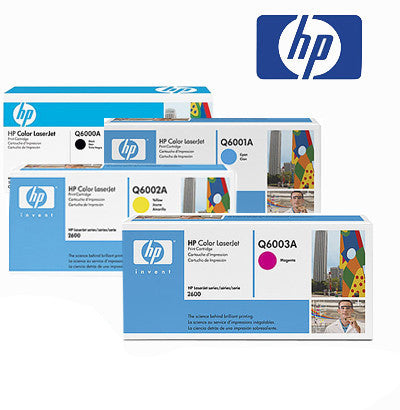HP 2600  Genuine B,C,M,Y Bundle Toner Cartridges