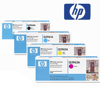 HP 2550 Genuine B,C,M,Y BundleToner Cartridges