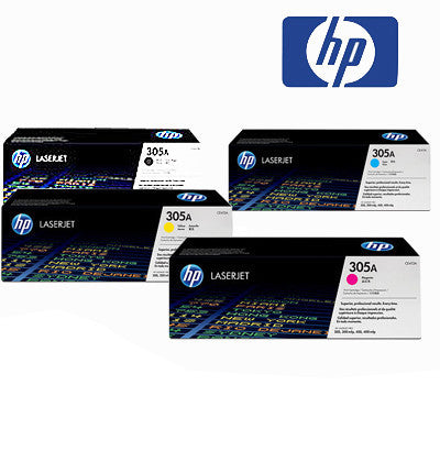 HP 305A Genuine B,C,M,Y Bundle Toner Cartridges