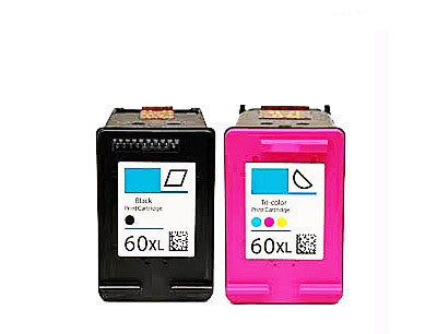HP 60XL Black and Tricolour combo Ink Cartridge Bundle Remanufactured
