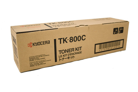 Kyocera TK-800C Genuine Cyan Toner Cartridge