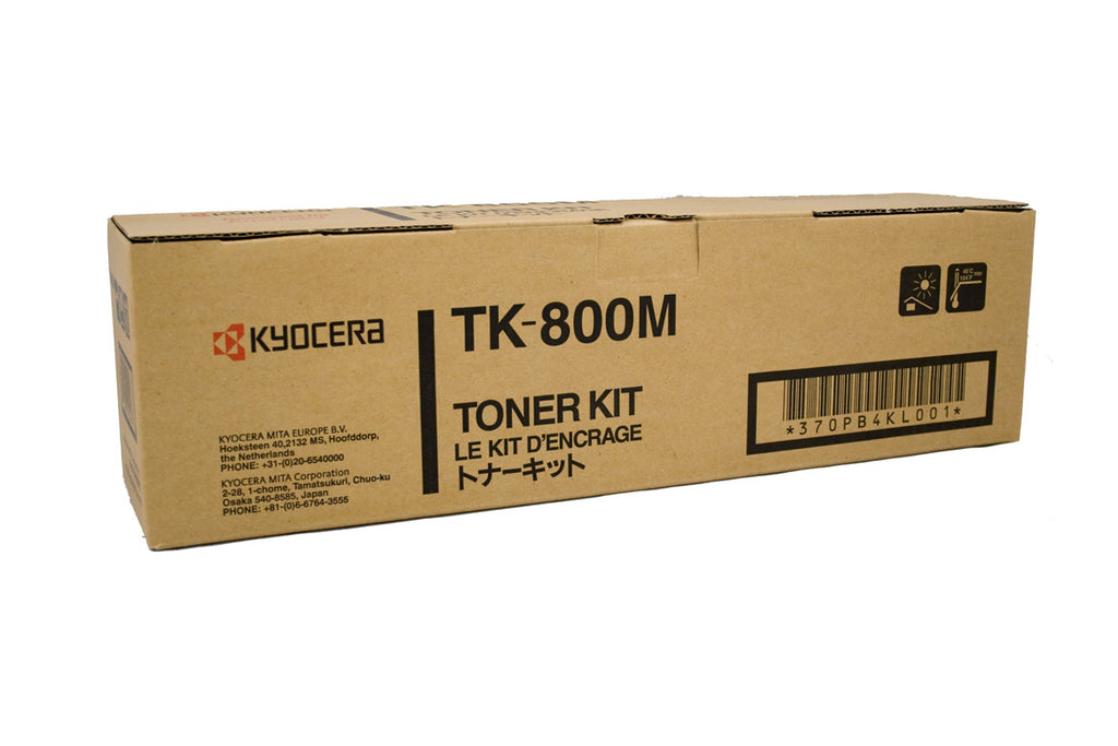 Kyocera TK-800M Genuine Magenta Toner Cartridge