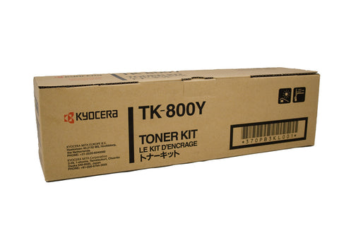 Kyocera TK-800Y Genuine Yellow Toner Cartridge