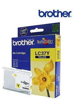 Brother LC37Y printer cartridge for  DCP135C, DCP150C, MF260C, MFC235C printers