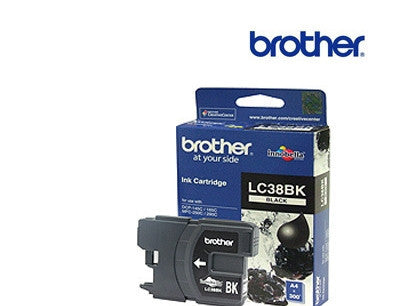 Brother LC38BK printer cartridge for DCP145C,  DCP165C,  DCP195C, MFC250C,  MFC290C, 375CW, MFC-255CW, MFC-295CN printers