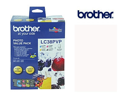 Brother LC-38PVP BCMY Genuine ink cartridges