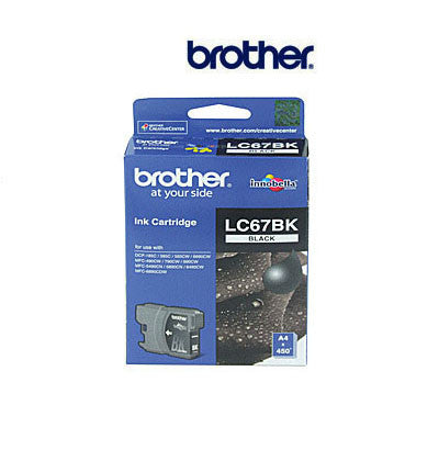 Brother LC-67BK  genuine black ink cartridge