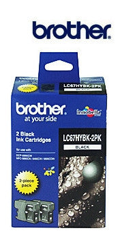 Brother LC-67HY-BK2PK  twin pack  ink cartridge