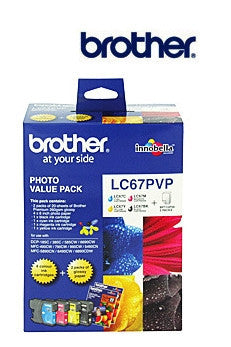 Brother LC67 genuine photo ink value pack