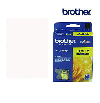 Brother LC67Y Genuine Yellow Ink Cartridge
