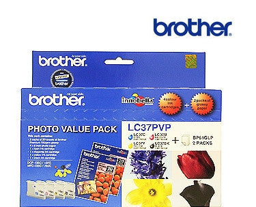 Brother LC37 Genuine Photo Ink BCMY BundleCartridges