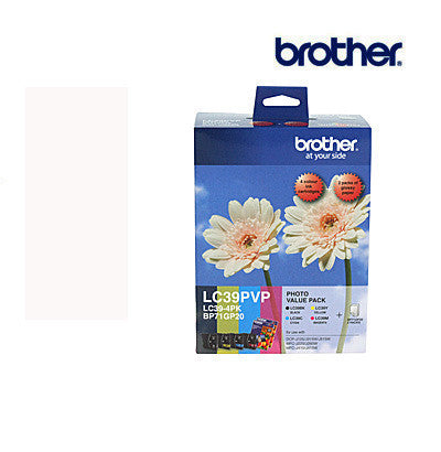 Brother LC39PVP Genuine B,C,M,Y Bundle Ink Cartridge