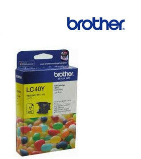 Brother LC40Y genuine printer cartridge for Brother modelsDCP-J525W,J725DW,J925DW, MFC-J430W,J432W,J625DW,J825DW printer by Brother