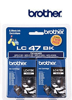 Brother LC47 Genuine Twin Pack Black Ink Cartridge