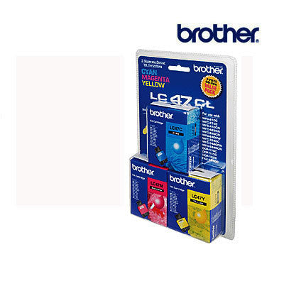 Brother LC47 Genuine Cyan, magenta, & Yellow 3 Pack  Ink Cartridge