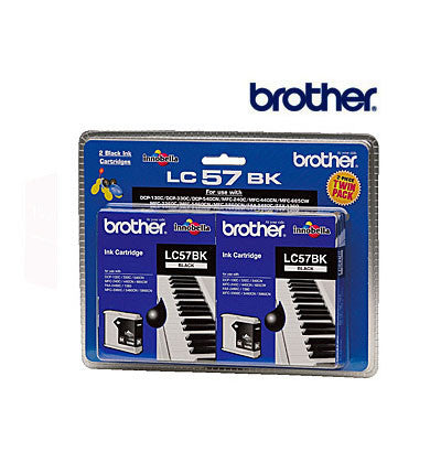Brother LC57B genuine Twin Pak Black Ink Cartridge