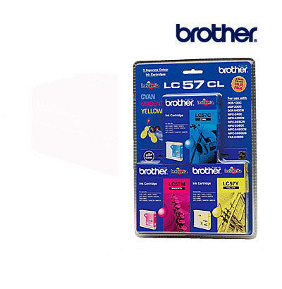 Brother LC57  genuine Cyan, Magenta, Yellow 3 pack  Ink Cartridge