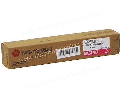 Oki 43459354 Magenta Laser Compatible Cartridge
