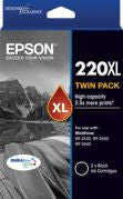 Epson 220 HY Black (C13T294194) twin pack Genuine Ink Cartridges