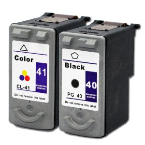 Canon PG40/CL41 combo Black, Tricolour Ink Cartridges Remanufactured