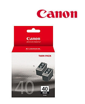 Canon PG40TWIN Genuine Fine Black Ink Cartridges