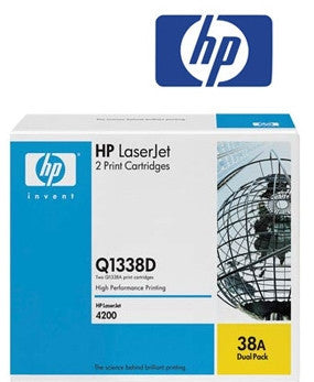 HP Q1338D (HP38AD) Genuine Dual Pack Black Toner Cartridge