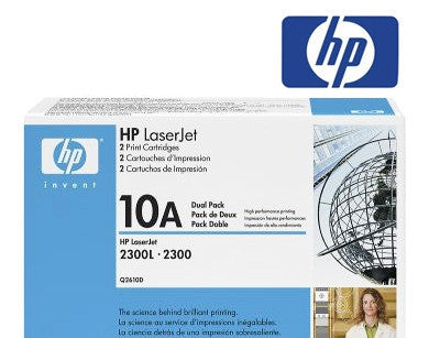 HP Q2610D (10D) Genuine Dual Pack Toner Cartridge