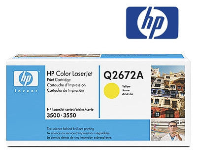 HP Q2672A Genuine Yellow Laser Toner Cartridge