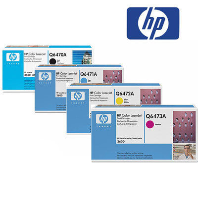 HP 3600 Genuine B,C,M,Y Bundle Toner Cartridge